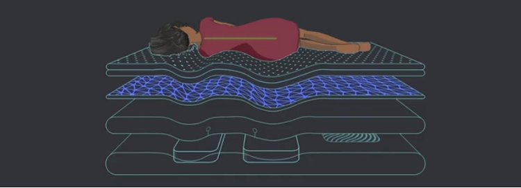 エコサは高い体圧分散性能で背中をサポート